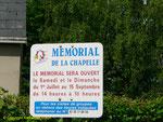 Hinweisschild zur Chapelle de La Madeleine