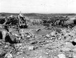 Zerstörungen in der H.K.B E.685 - 3./1262 Auderville Laye nach dem Bombenangriff I