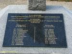 Gedenktael mit den Namen der Bomberbesatzungen