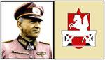 Generalleutnant Kraiss und das Divisionswappen der 352. Inf.Div.