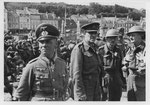 Generalmajor Erwin Rommel und Soldaten der 51st Highland Division, Cherbourg Juni 1940