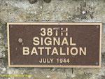 Gedenktafel für das 38th Signal Battalion