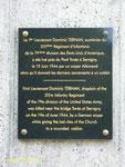 Gedenktafel für First Lieutenant Dominic Tormain