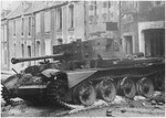 Nach dem Ende der Kämpfe in Villers-Bocage: Abgeschossener Cromwell