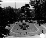 Blick auf den Garten des Hauptquartiers