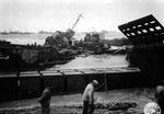 Mulberry A Hafen nach dem großen Sturm III