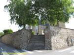 Gedenktafel für das 134th IR, dessen Männer  St-Georges-Montcocq am 18. Juli 1944 befreiten