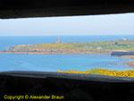 Blick aus dem Feuerleitstand in Richtung Cap Levy II