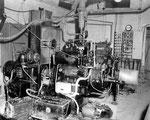 Generatorraum des unterirdischen Befehlsstands