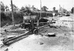 Nach dem Ende der Kämpfe in Villers-Bocage: Zerstörte britische Pak II