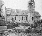 Die zerstörte Kirche von La Meauffe