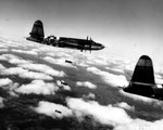 B-26 Maurauder Bomber auf Bombenflug über dem Cotentin II