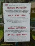 Gedenktafel für William Tucker im Airborne Museum in Ste-Mere-Eglise