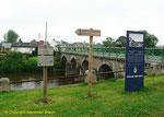 Brücke von St-Fromond mit NTL Stele