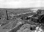 Das verwüstete obere Stockwerk des Fort du Roule nach der Kapitulation