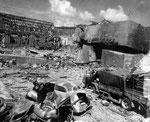Gesprengte Gebäude im Arsenal Cherbourg