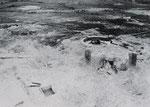 15,5 cm Kanone der Batterie Gatteville außerhalb von Kasematte I um auf die im Landesinneren vorrückenden US-Truppen zu feuern