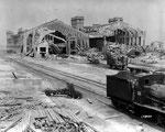 Der völlig zerstörte Gare Maritime I