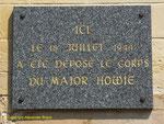 Gedenktafel für Major Howie
