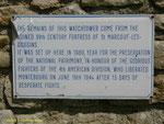 Gedenktafel in engl. Sprache