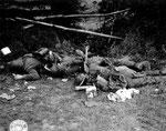 Gefallene Landser der Panzer-Lehr-Division westlich der Vire