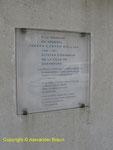 Gedenktafel für Lieutenant General Collins dessen US VII Corps Cherbourg erobert hatte