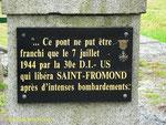 Gedenktafel für die Eroberung der Brücke von St-Fromond II