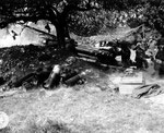 US-Artillerie feuert mit 15,5 cm Geschützen auf Cherbourg I