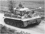 Tiger 205 von Michael Wittmann im Anmarsch in die Normandie