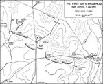7. Juli Abends - Position der 30th ID nach dem Angriff über die Vire und den Vire-Taute Kanal