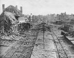 Der zerstörte Bahnhof von St-Lo