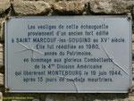 Gedenktafel in franz. Sprache
