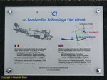 Informationstafel zum Absturz der Blenheim