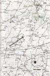 ALG A-5 eingezeichnet auf einer IGN Karte. Weiter südlich befand sich das mit dem Codenamen Shellburst versehene erste HQ von General Eisenhower