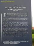NTL Stele - Beschreibung der Kämpfe um St-Fromond
