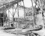Getarnte Abschussrampe des Wasserwerk II bei Brecourt I