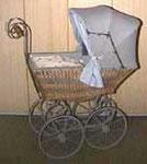 Puppenwagen WISA Gloria (ca 1900, inkl. Garnitur, zu kaufen für Sfr. 1300.-)