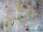 Mischtechnik, Acryl/Salz auf Leinwand, 60 x 80 cm