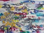 Farbspiele, Acryl auf Leinwand, 70 x 100 cm, 2016
