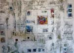 Ohne Titel, Acryl/Steinmehl auf Leinwand, 80 x 60 cm, 2018