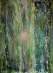 Grün und Gold, Acryl/Steinmehl auf Leinwand, 60 x 80 cm, 2018