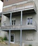 Balcons superposés en Galva