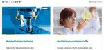 Website Unilube: responsive Design, Mobile quer