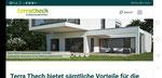Website Terrathech: Home/Startseite, responsive Design, Mobile quer