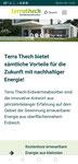 Website Terrathech: Home/Startseite, responsive Design, Mobile hoch