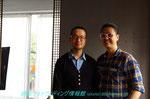 Saint o'clockのキム・ジフン社長(右)と私