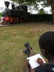 dessin de la locomotive de l'ancien forestier