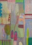 Landschaft I, 50 x 70 cm, 2014, Acryl/Ölkreide