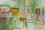 Landschaft, 100 x 140 cm, 2017, Acryl