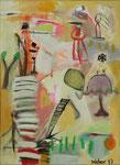 Stillleben mit Lampe, 50 x 70 cm, 2017, Acryl